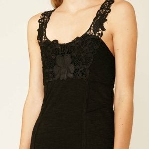 Free People Black Mini Dress Lace XS